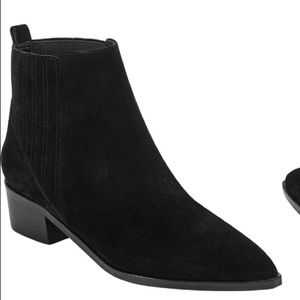 MARC FISHER SUEDE ANKLE CHELSEA BOOTS